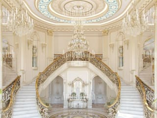 Classic style corridor, hallway and stairs by Luxury Antonovich Design Classic