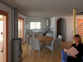 Vista 3d Living: Livings de estilo  por PROYECTOS ARQUIMORAM
