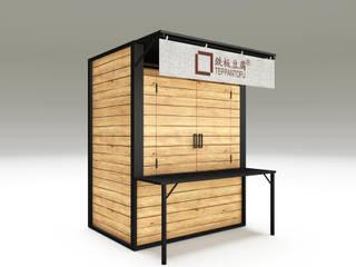 Teppantofu street food stand: Cucina attrezzata in stile  di Studio Maiden