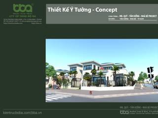 Thiết kế biệt thự 2 tầng 14 x 16 250m2 Mr. Quý | Nhà Bè:   by Công ty Cổ phần Thiết kế Xây dựng Bộ Ba
