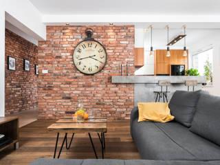 APARTAMENT W KRAKOWIE: styl , w kategorii Salon zaprojektowany przez AP interiors,