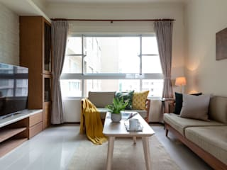 創喜設計 Eclectic style living room Wood Wood effect