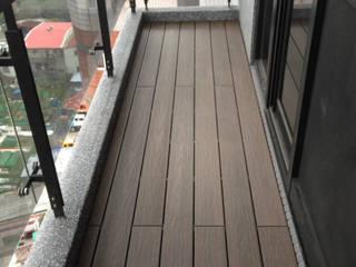 新綠境實業有限公司 Balcon, Veranda & Terrasse minimalistes Bois composite Effet bois