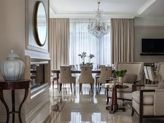 Classic style living room by AMG project Classic