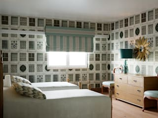 Inêz Fino Interiors, LDA Eclectic style bedroom