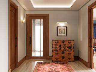 Pasillos, vestíbulos y escaleras de estilo ecléctico de Inêz Fino Interiors, LDA Ecléctico