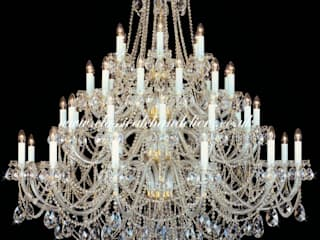 Large Chandeliers Classical Chandeliers Living roomLighting Amber/Gold