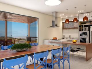Cozinha Gourmet Cozinhas modernas por Tayrine Barcelos Arquitetura e Decoração Moderno
