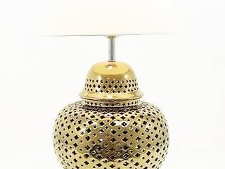Candeeiro de mesa em porcelana dourado!:   por Revivigi