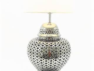 Candeeiro de mesa em porcelana prateado!:   por Revivigi