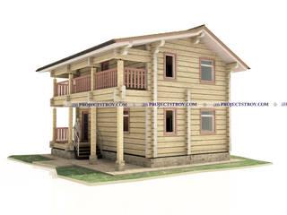 Небольшой дом из лафета: Дома в . Автор – Projectstroy