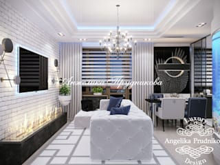 Дизайн-проект интерьера квартиры в стиле лофт на Ленинском: Гостиная в . Автор – Дизайн-студия элитных интерьеров Анжелики Прудниковой