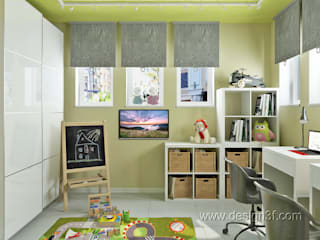 Chambre d'enfant scandinave par студия Design3F Scandinave