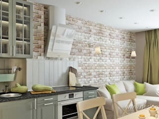 Cocinas de estilo escandinavo de студия Design3F Escandinavo