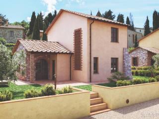 Realizzazione render per la costruzione di 3 villette unifamiliare, Lajatico:  in stile  di Eleonora Frosini