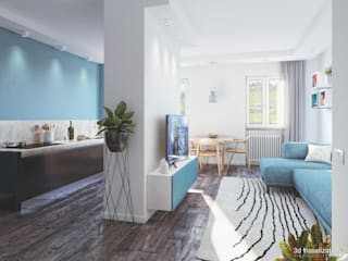 Blue Dream Apartment di Eleonora Frosini Moderno