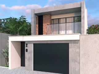 Outra vista : Casas familiares  por Hérica Franco Arquitetura