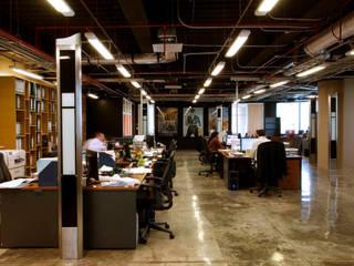 Paola Calzada Arquitectos Office spaces & stores Concrete Black
