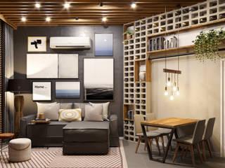 ห้องนั่งเล่น โดย Rau Duarte Arquitetura,