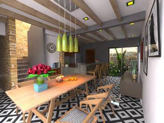 Comedor - cocina: Comedores de estilo  por Imagen + Diseño + Arquitectura