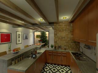 Cocina - Barra Comedor: Muebles de cocinas de estilo  por Imagen + Diseño + Arquitectura