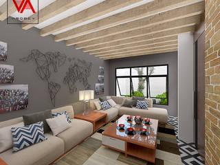 Sala: Salas de estilo moderno por Imagen + Diseño + Arquitectura