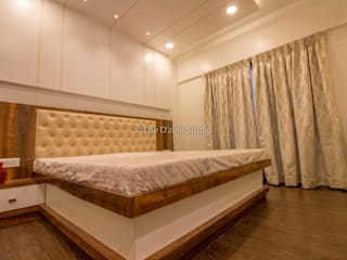 3 bhk complete home interiors in Blue Ridge Township ( Pune) Modern style bedroom by The D'zine Studio Modern