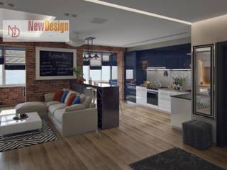 NewDesign Built-in kitchens Bricks Brown