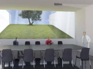 Concurso Unidade de Saúde Santa Iria da Azóia, Loures: Hospitais  por loci studio,Moderno