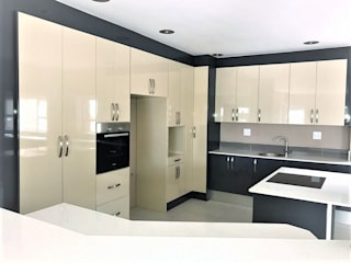 High Gloss Modern Two Tone Kitchen by Zingana Kitchens and Cabinetry Modern