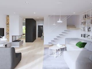 Escaleras de estilo  por SARNA ARCHITECTS   Interior Design Studio,