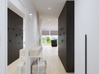 Minimalist corridor, hallway & stairs by SARNA ARCHITECTS Interior Design Studio Minimalist