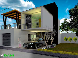 Casa Atzompa: Casas de estilo moderno por JADANI-ARQUITECTOS
