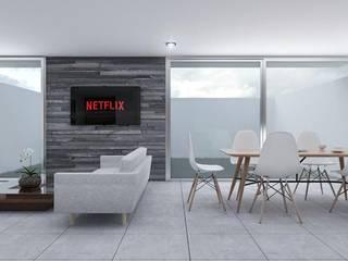 Casa Yuca Salones modernos de DMGA Arquitectos Moderno