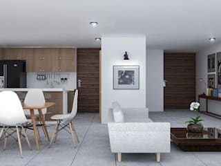 Casa Yuca: Comedores de estilo moderno por DMGA Arquitectos