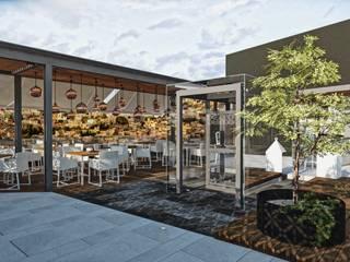Restaurantes de estilo  por Rapzzodia Interiorismo, Minimalista