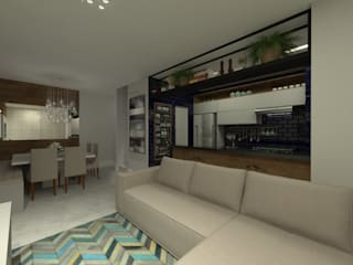 Sala Estar/Jantar: Salas de estar  por GABRIELA GUERREIRO   ARQUITETURA