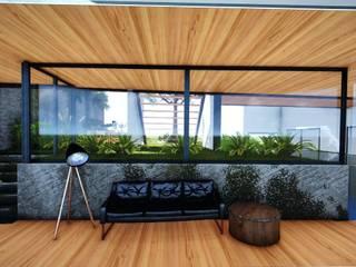 CASA HABITACIÓN: Salas de estilo moderno por GCL Ingeniería y Proyectos