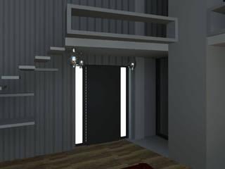 LOFT Pasillos, vestíbulos y escaleras industriales de Granada Design Industrial