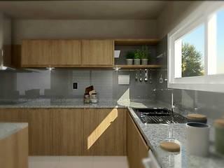 Cocina con Isla Cocinas modernas: Ideas, imágenes y decoración de VI Arquitectura & Dis. Interior Moderno