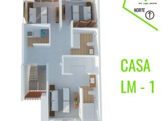 PLANTA 3: Casas unifamiliares de estilo  por TALLARQ