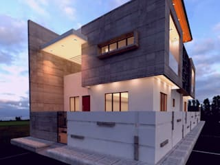 Ravi Prakash Architect Bungalows Concrete White