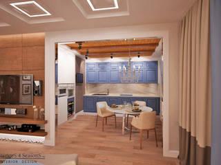 Квартира 104 кв.м в Москве на ул. Столетова: Кухни в . Автор – InteriorS4SeasonS