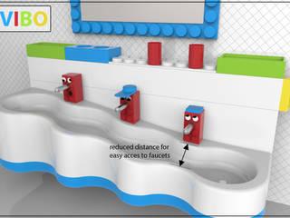 """""""VIBO"""" - Kinder Badezimmer im LEGO-Style:  Badezimmer von InDezign"""