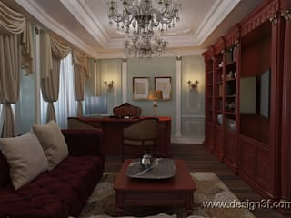Classic style study/office by студия Design3F Classic