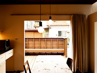 Dining room by Takeru Shoji Architects.Co.,Ltd, Eclectic