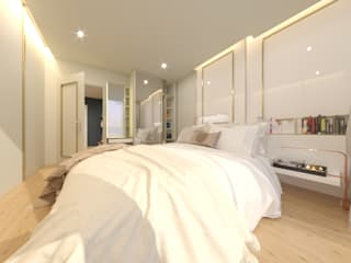 The Line Condominium:  ห้องนอน by Prime Co.,ltd