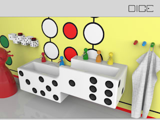DICE - Kids bathroom in game-design Eclectic style bathroom by InDezign Eclectic