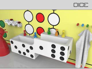 DICE - Kinder-Badezimmer im Spiele-Design:  Badezimmer von InDezign