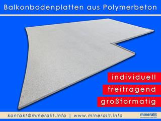 Halbrunde Balkonbeläge für große Terrassen: modern  von Mineralit - Mineralgusswerk Laage GmbH,Modern